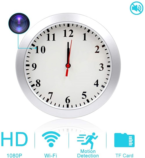 AMCSXH Hidden Camera Wall Clock