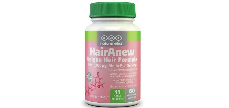 Naturenetics HairAnew Unique Hair Growth Vitamins with Biotin
