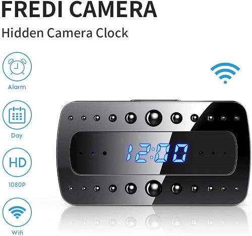 Fredi Hidden Camera Clock