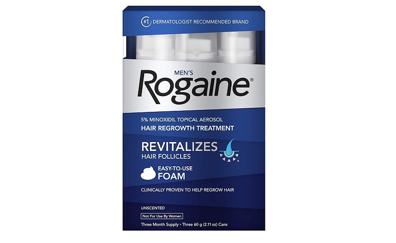 Rogaine Men's Minoxidil Hair Thinning & Loss Treatment Foam