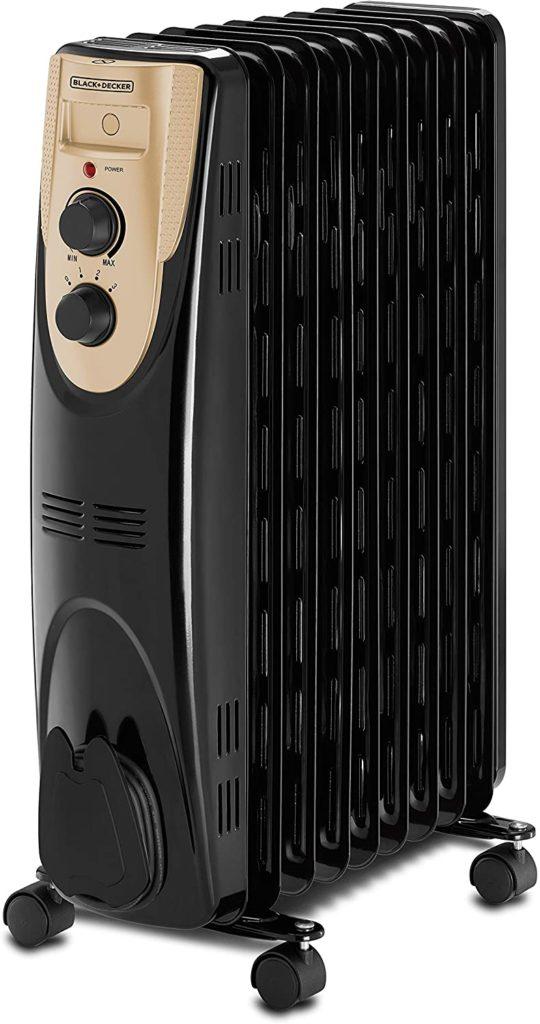 Black and Decker 2500W 13 Fin Oil Radiator Heater With Fan Forced