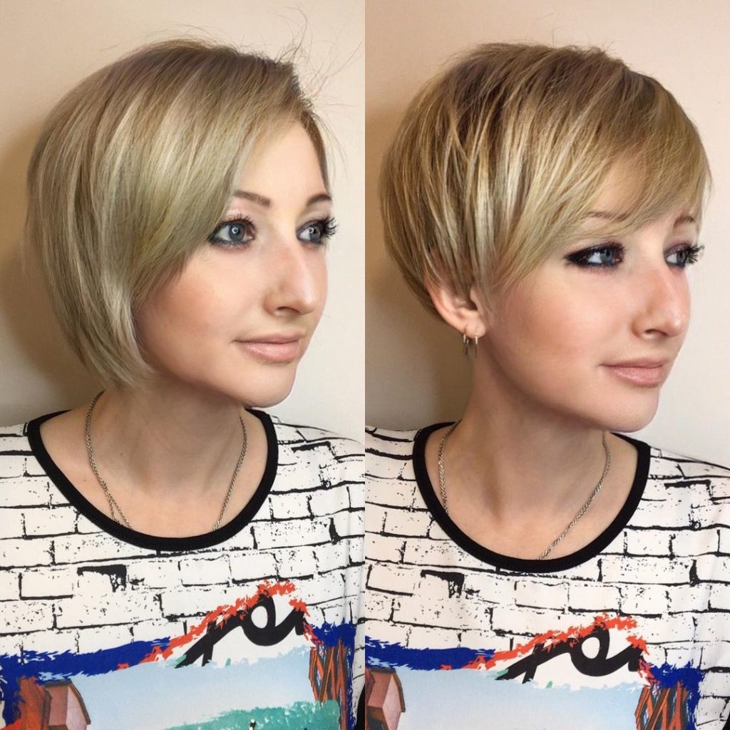 8- Elongated Layered Pixie for Fine Hair