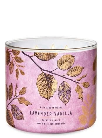 Lavender Vanilla Bath & Body Works Candle