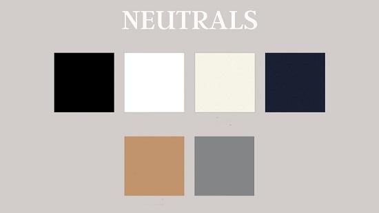 نظرية اللون في التصميم الالوان المحايدة